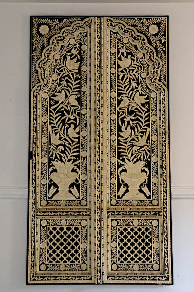 """298 - Mar 15<br /> Ivory door frame <br /> <br /> This antique piece was placed in a lobby of Rajputana Sheraton hotel. The royalty and the rich people often got ivory inlaid in doors, windows and other pieces of furniture. The delicate carving was done by hand. Best viewed in original size. <br /> <br /> <br />  <a href=""""http://www.javeri.net"""">http://www.javeri.net</a>"""