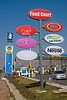 "299 - Mar 16<br /> Take your pick! <br /> <br /> The signs were near a food court & petrol pump (gas station) on the Western Express highway. We were headed for Mahabaleshwar, a hill resort, and had made a stop here.  I liked the way the signs stood out against the sky. <br /> <br /> <br /> <br />  <a href=""http://www.javeri.net"">http://www.javeri.net</a>"