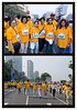"244 - Jan 24<br /> Mumbai Marathon <br /> <br /> It's a bit long narrative but DO read till the end, there's a request...<br /> <br /> The sixth Standard Chartered Mumbai Marathon took place on Sunday, 19th January 2009. This was the first major public event since the terrorist attack in November 2008 and people responded in thousands. There were 35000 participants with hundreds of thousands lined up along the routes, cheering and lending support. <br /> <br /> The race categories were Full Marathon (42.195 km), Half Marathon (21.097 km), Dream Run (6 km), Senior Citizens' Run (4.3 km) and the Wheelchair Event (2.5 km). The Full Marathon carries a prize money of $31,000 and has been won by Kenyan athletes in the last four years. Beside professional athletes, the participants included those who ran for different charities or NGOs. There were corporate teams and individuals too. Most of them carried some kind of message and the common theme was peace and anti-terror unity. <br /> <br /> All the events started from CST the train terminal, one of the sites of the terror attacks. There was heavy security with extra metal detectors and scanners & helicopters. The route also passed the Trident-Oberoi hotel, another terrorist target.<br /> <br /> As most of you may know, my daughter Vinati (Vini) is a downs-syndrome child. She is now 25 and after passing out from Sadhana school works at Om Creation, a sheltered workshop for mentally challenged. Om Creation & Sadhana School also took part with a contingent of workers, students, parents and well wishers. I have attended three previous Marathons — mostly as a photographer — and it has always been an exhilarating & humbling experience. <br /> <br /> This year they had entered the Dream Walk event and I was there with Vini. She amazed me by walking more than 7 kms (besides the 6 kms walk, had to walk quite a bit to reach the venue and to get back home) without a complaint. <br /> <br /> Needless to say it was an event that will remain in my memory for a long time to come.<br /> <br /> The first shot shows Vini (24477) with Mandira Bedi, the brand ambassador of Om (also a TV, Stage and movie star) and a friend with other supporters. The second shows her walking with the Trident-Oberoi in the background. <br /> <br /> REQUEST: Vini will be thrilled if you will spare a minute and include a message for her here. <br /> THANK YOU! <br /> <br /> More pics of the Marathon at <br />  <a href=""http://hershy.smugmug.com/gallery/7144469_zk5Xo/1/458382770_gu8ns"">http://hershy.smugmug.com/gallery/7144469_zk5Xo/1/458382770_gu8ns</a><br /> <br /> <br /> <br />  <a href=""http://www.javeri.net"">http://www.javeri.net</a>"