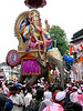 """Anant Chaturdashi<br /> <br /> This is an idol of Lord Ganesha on an elephant (not real!). <br /> Unlike last year could shoot only for 45 minutes as had to go for a movie! Shot in Leica & Nikon D300 (17-55 mm). <br /> <br /> Started by freedom fighter Bal Gangadhar Tilak as an occasion to bring the masses together irrespective of class, against the British rulers, Ganeshotsav is the celebration of the Hindu elephant deity Lord Ganesha's visit to the homes of devotees.<br /> <br /> Ganesh Chaturthi is the first day of the 10- or 11-day festival where idols of the deity in various shapes, sizes and colours (often with news-based themes) are brought to the homes or colonies of devotees. On the final day (Anant Chaturdashi), the idols are carried by hand, balancing them on the head, pulled in hand carts or trucks, to be immersed in the nearest sea, river or lake.<br /> <br /> The process of taking the idols for immersion is marked with much fanfare -- loud music, resonating beats and dancing devotees bid adieu to Lord Ganesha only to welcome him again the next year with equal excitement.<br /> <br />  <a href=""""http://www.javeri.net"""">http://www.javeri.net</a><br /> <br /> <br /> Last year (2007) pictures <a href=""""http://hershy.smugmug.com/gallery/3548966_uwjvK"""">http://hershy.smugmug.com/gallery/3548966_uwjvK</a>"""