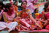 """160 4th Oct<br /> Red! <br /> <br /> Shot during Ganpati Visarjan. D300 with 17-55mm <br /> These ladies were on an open truck in a procession carrying the idol of Lord Ganesha. Beside the colourful clothes, many also apply / throw gulal (a dry red colour powder). <br /> <br /> more pictures: <br />  <a href=""""http://hershy.smugmug.com/gallery/5984659_dw7W9/1/373760312_MDrnd#373760312_MDrnd"""">http://hershy.smugmug.com/gallery/5984659_dw7W9/1/373760312_MDrnd#373760312_MDrnd</a><br /> <br />  <a href=""""http://www.javeri.net"""">http://www.javeri.net</a>"""