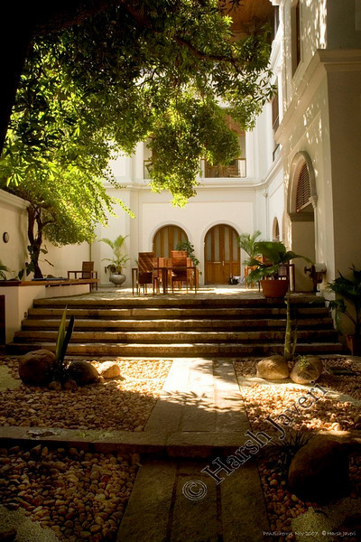 """courtyard of Hotel Le Dupleix where we stayed<br /> Pondicherry, India<br /> <br /> more pics:  <a href=""""http://Hershy.smugmug.com/gallery/3951305_mw7Dp/1/289184725_zpLUc"""">http://Hershy.smugmug.com/gallery/3951305_mw7Dp/1/289184725_zpLUc</a><br /> <br /> travel and other info on Pondicherry  <a href=""""http://tourism.pondicherry.gov.in/"""">http://tourism.pondicherry.gov.in/</a>"""