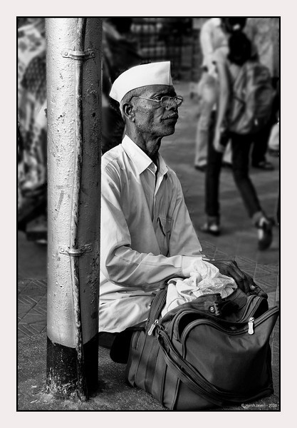 """3rd year Pic 103 - Nov 05 2010<br /> Resting... <br /> Victoria Terminus (VT) Station<br /> now known as Chatrapati Shivaji Terminus (CST)<br /> <br /> The colour version is here: <br /> <br />  <a href=""""http://hershy.smugmug.com/Photography/Mumbai-my-city/Misc-shots-of-Mumbai/6410100_x8urE#1037271894_3ixbR-A-LB"""">http://hershy.smugmug.com/Photography/Mumbai-my-city/Misc-shots-of-Mumbai/6410100_x8urE#1037271894_3ixbR-A-LB</a>"""