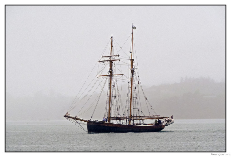 """3rd year Pic 139 - Jan 21 2011<br /> Schooner<br /> <br /> At Paihia, New Zealand, we went on a """"Hole in the wall"""" cruise. It was foggy and even rained for a while. The sun came out during the return journey though.<br /> <br />  <a href=""""http://hershy.smugmug.com/Travel/New-Zealand-Macau-Hong-Kong/nz/15128387_vhrMi"""">http://hershy.smugmug.com/Travel/New-Zealand-Macau-Hong-Kong/nz/15128387_vhrMi</a>"""