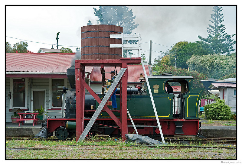 3rd year Pic 150 - Feb 01 2011<br /> Old steam locomotive at Kawakawa<br /> Still in operation, it runs through the town!