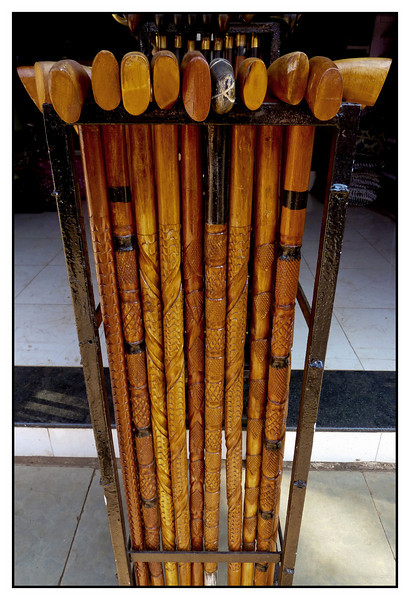 3rd year Pic 176 - Mar 05 2011<br /> Walking sticks<br /> <br /> Handmade walking sticks for sale at Mahabaleshwar Market.