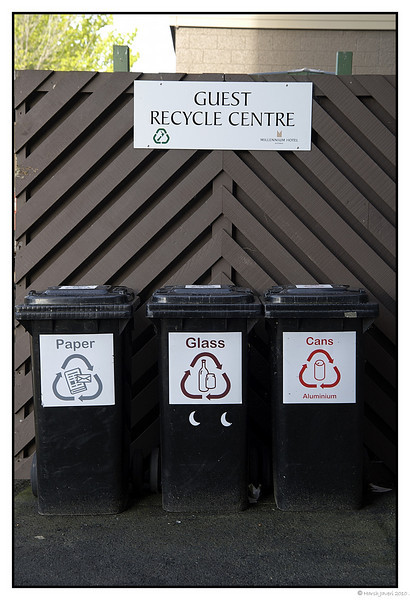"""3rd year Pic 247 - Jun 08 2011 <span style=""""color:yellow"""">Recycle</span> <span style=""""color:RED"""">WHAT? </span>  Rotorua, New Zealand  Noticed the bins at the side of the hotel...."""