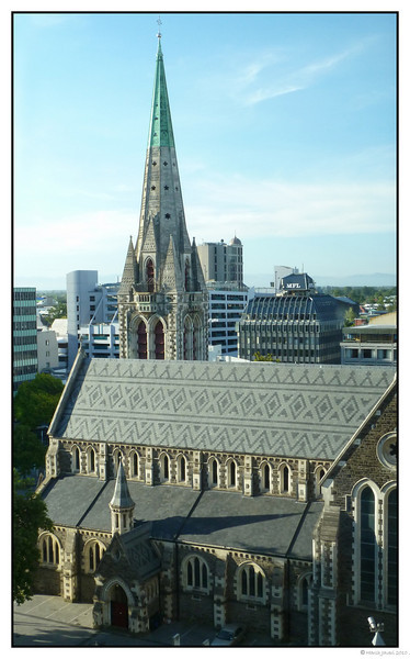 "3rd year Pic 168 - Feb 22 2011<br /> NO MORE!<br /> Cathedral, Christchurch<br /> <br /> <br /> This picture was taken last November when we were touring New Zealand and was shot from my hotel room and SOOC. <br /> <br /> AN EARTHQUAKE MEASURING 6.3 HIT CHRISTCHURCH EARLY TODAY AND CAUSED A LOT OF DAMAGE. AT LAST REPORT 65 PEOPLE HAD DIED.  THIS BEAUTIFUL CATHEDRAL'S SPIRE WAS ALSO DAMAGED AND IS NO MORE.  IT'S SUCH A SAD WAY TO START A DAY, SEEING A BEAUTIFUL MONUMENT DAMAGED SO BADLY.  OUR HEARTS GO OUT FOR THE ONES AFFECTED.  <br /> <br /> CHECK IMAGE 7 <br />  <a href=""http://www.bbc.co.uk/news/world-asia-pacific-12533722"">http://www.bbc.co.uk/news/world-asia-pacific-12533722</a> <br /> <br /> <br />  <a href=""http://www.nzherald.co.nz/nz/news/article.cfm?c_id=1&objectid=10708043"">http://www.nzherald.co.nz/nz/news/article.cfm?c_id=1&objectid=10708043</a>"