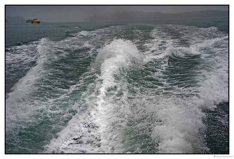 "3rd year Pic 142 - Jan 24 2011<br /> Churned up<br /> <br /> At Paihia, New Zealand, we went on a ""Hole in the wall"" cruise. It was foggy and even rained and the sea was choppy! <br /> <br />  <a href=""http://hershy.smugmug.com/Travel/New-Zealand-Macau-Hong-Kong/nz/15128387_vhrMi"">http://hershy.smugmug.com/Travel/New-Zealand-Macau-Hong-Kong/nz/15128387_vhrMi</a>"
