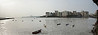"3rd year Pic 280 - Jul 14 2011 <span style=""color:yellow"">Nariman point </span> <br> Nariman Point from Koli Fishing Village, Cuffe Parade  Pano from 7 images.  <span style=""color:cyan"">Yesterday Mumbai was rocked with serial bomb blasts at three crowded localities leaving over 20 dead and many injured.  This heinous act of terrorism, killing innocent citizens, happened a year and half after a group of terrorists attacked  the city.  The city is slowly getting back to normalcy.  I canceled my departure today and am leaving tomorrow morning.  </span> <br> More pictures from Koli village: <br> http://hershy.smugmug.com/Photography/Mumbai-my-city/South-Mumbai/16667060_gC4gZV"