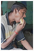 3rd year Pic 050 - Sep 12 2010<br /> BIG bite! Dhobi Ghat<br /> <br /> What he is having is 'Vada Pao', something like a burger : Vada means a potato patty and pav means bread.