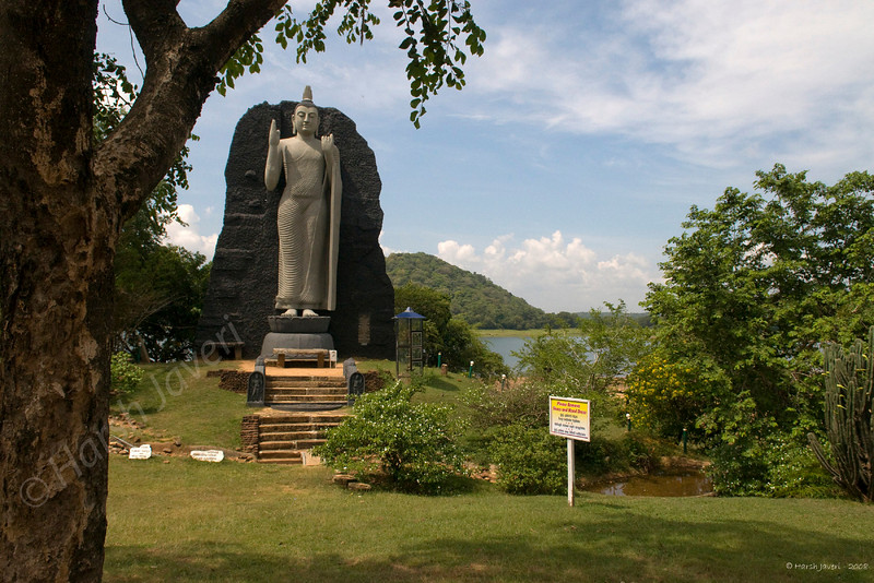 3rd year Pic 008<br /> Buddha, Sri Lanka<br /> <br /> Beside many temples one also finds statues of Buddha put up at roadsides in such beautiful surroundings.
