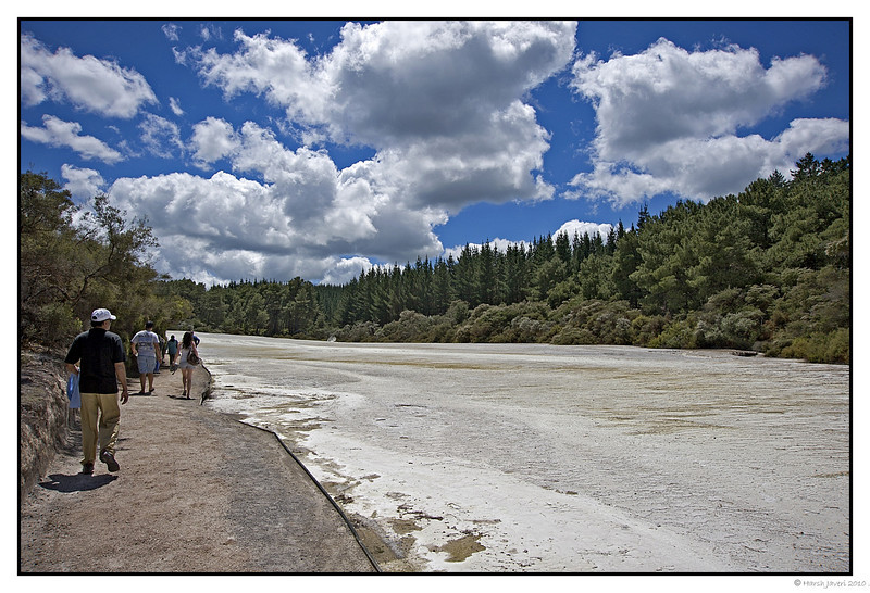 """3rd year Pic 241 - May 29 2011 <span style=""""color:yellow"""">Wai-o-tapu thermal ground walk </span>  Apart from Lady Knox geyser, Wai-o-tapu (Sacred Waters)  thermal grounds also has mud pools, mineral terraces, colorful hot and cold pools and steaming volcanic lakes. A walk around the grounds is a must with over 100 varieties of native trees and ferns, 60-foot tall trees and delicate maidenhair ferns and emerald lake. <span style=""""color:cyan"""">For more pictures go to  </span> <br> http://hershy.smugmug.com/Travel/New-Zealand-Macau-Hong-Kong/Wai-o-tapu/15145490_rtEQ6"""