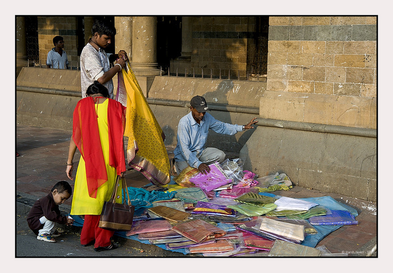 3rd year Pic 097 - Oct 30 2010<br /> Street vendor <br /> outside Victoria Terminus (VT) Station now known as Chatrapati Shivaji Terminus (CST)