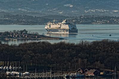 ColourLine ferry leaving Oslo