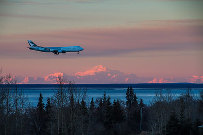 Airplane Alpenglow