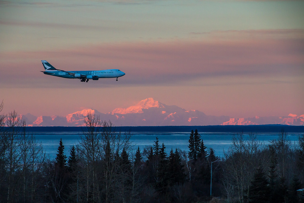 Airplane Alpenglow