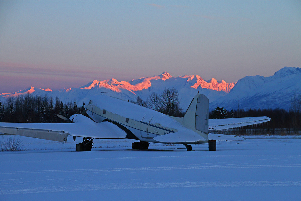 3.22.14: We've been having some nice weather around Anchorage lately so after work I usually drive around looking for photo opportunities, the other day I spotted this gem at the Palmer, AK Airport. Not a bad way to end the day.