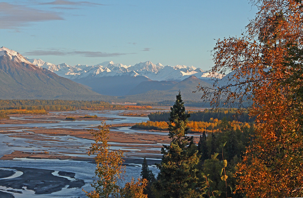 10-16-12: As I drove north on the Parks Highway I stopped many times along the way to take some photographs on what was a beautiful fall day. This picture was taken looking north from the south McKinley view point along the Parks Highway. Just to the left and out of view is Mt. McKinley also known as Denali. Photo taken on 9-10-12