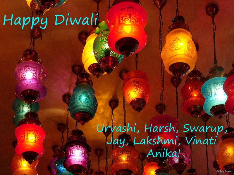 "5th year Pic 083 - Nov - 01 2013. <span style=""color:yellow"">HAPPY DIWALI! </span> <p>  <span style=""color:lightblue""> Dear Friends, here's wishing YOU ALL a VERY HAPPY DIWALI! Diwali (or Deepavali) means festival of lights and is the homecoming of Lord Rama after a 14-year exile in the forest and his victory over Ravana. In the great epic Ramayana, the people of Ayodhya (the capital of his kingdom) welcomed Rama by lighting rows (avali) of lamps (deepa), thus its name. Diwali celebrations are often spilled across several days starting with Dhanteras (dhan = wealth; teras = 13).This day falls on the 13th day of the second half of the lunar month. Naraka Chaturdashi falls on the 14th day on which demon Narakasura was killed by Lord Krishna, an incarnation of Lord Vishnu. Since Diwali symbolises the victory of good over evil, many people burn effigies of Ravana and anything they consider evil, almost an Indian representation of the Guy Fawkes tradition. <p> <span style=""color:lightblue"">This is followed by the day of Lakshmi Puja, one where people wish friends and relatives Happy Diwali. Hindu homes worship Lakshmi, the goddess of wealth, and Ganesh, the God of auspicious beginnings, and then light lamps all across the streets and homes to welcome prosperity and well-being. The next day is the NEW YEAR for those Hindus who follow the lunar calendar. Finally the celebrations end with Bhau Beej, a day when brothers and sisters meet to express their love and affection for each other.</span></p></span></p>"