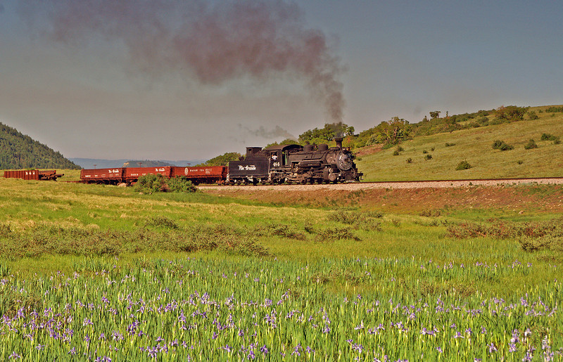 Colorado is fortunate to have two historic railroads with a 2 hour drive of each other. The Cumbres & Toltec Scenic Railroad and the Durango & Silverton complement each other very nicely. The former of the two is seen here climbing the grade to the summit at Cumbres Pass on a glorious Spring day.