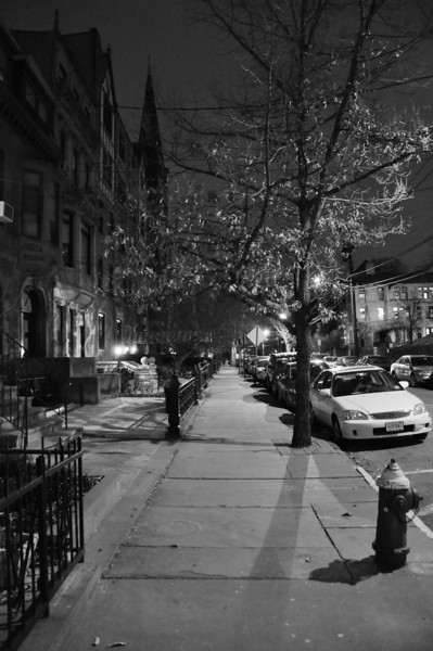 January 30, 2009 Daily Photo.<br /> <br /> A cold, clear evening on Hudson Street.