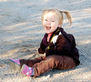 Sophie playing in the sand  Taken 2011.01.01, Florence, AZ, USA