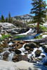 Waterfall on the Marble Fork of the Kaweah River in the Tableland of Sequoia National Park.