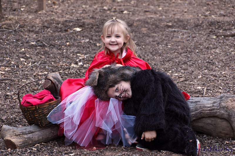 Little Red Riding Hood and the Big bad Wolf.
