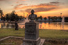 George Washington bicentenial memorial in Roedeing Park, Fresno California. An HDR image.