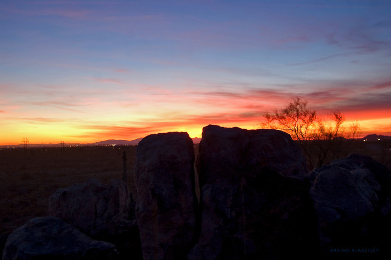 Never take a sunset for granite.<br /> <br /> Taken 2012.01.29, Apache Junction, AZ, USA