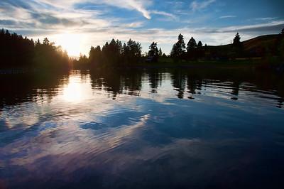 6/20/2010  Sunset over Wallowa Lake State Park Oregon