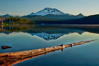 7/24/2011  Broken Top from Elk Lake just after sunrise.