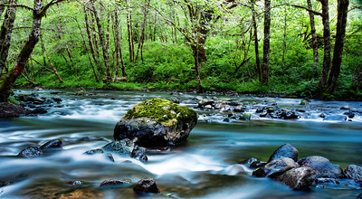 6/12/2011  The Nestucca River, I was playing with my newest filter a variable ND filter very nice.