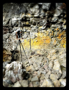 Ansel Adams revisited in Indian cave at Craters of the Moon National Monument, Idaho.