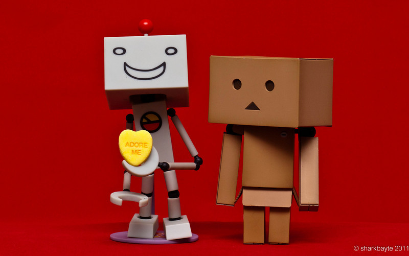February 4, 2011-Prepping for Valentine's Day. Suzuki and Danboard are waiting anxiously for Valentine's Day. They say it's a candy lover's holiday. And they are lover's err...candy lover's. Day 35 #365Project @sharkbayte