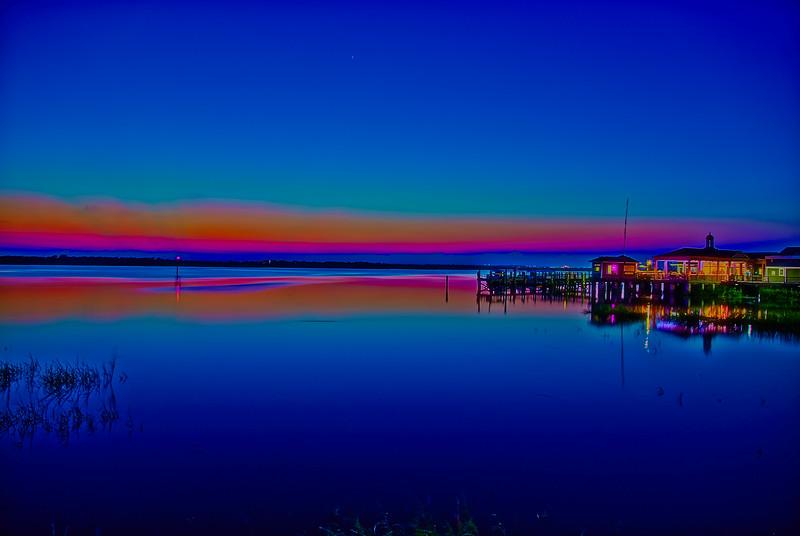 Blue Hour Boat Pier