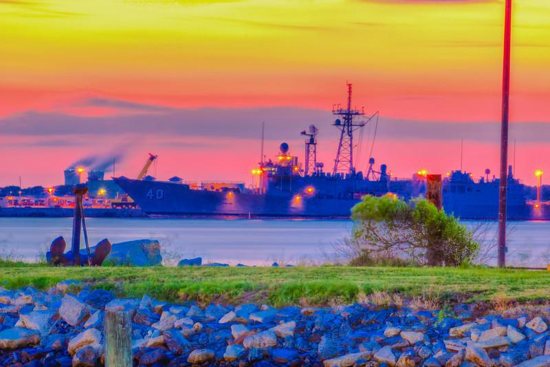USS Halyburton FFG-40 and Venus Belt