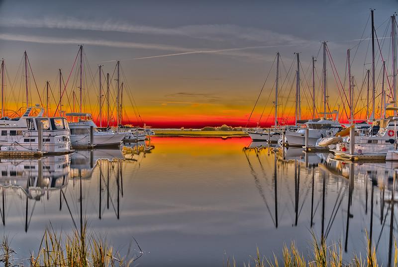 Brunswick Landing Marina Sunset