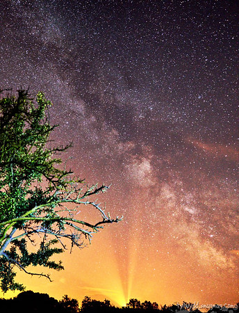 Milky Way and light pollution