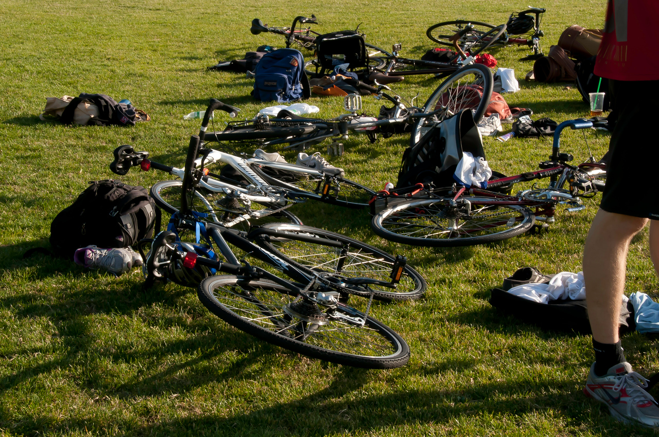 July 13, 2011<br /> <br /> A tangle of bicycles