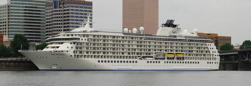 "6-16-09  The cruise ship ""The World"" visit Portland"