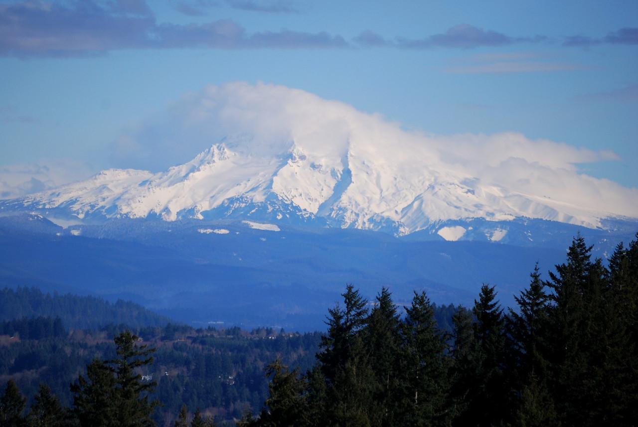 2-15-09  Mt. Hood wearing a blanket of clouds