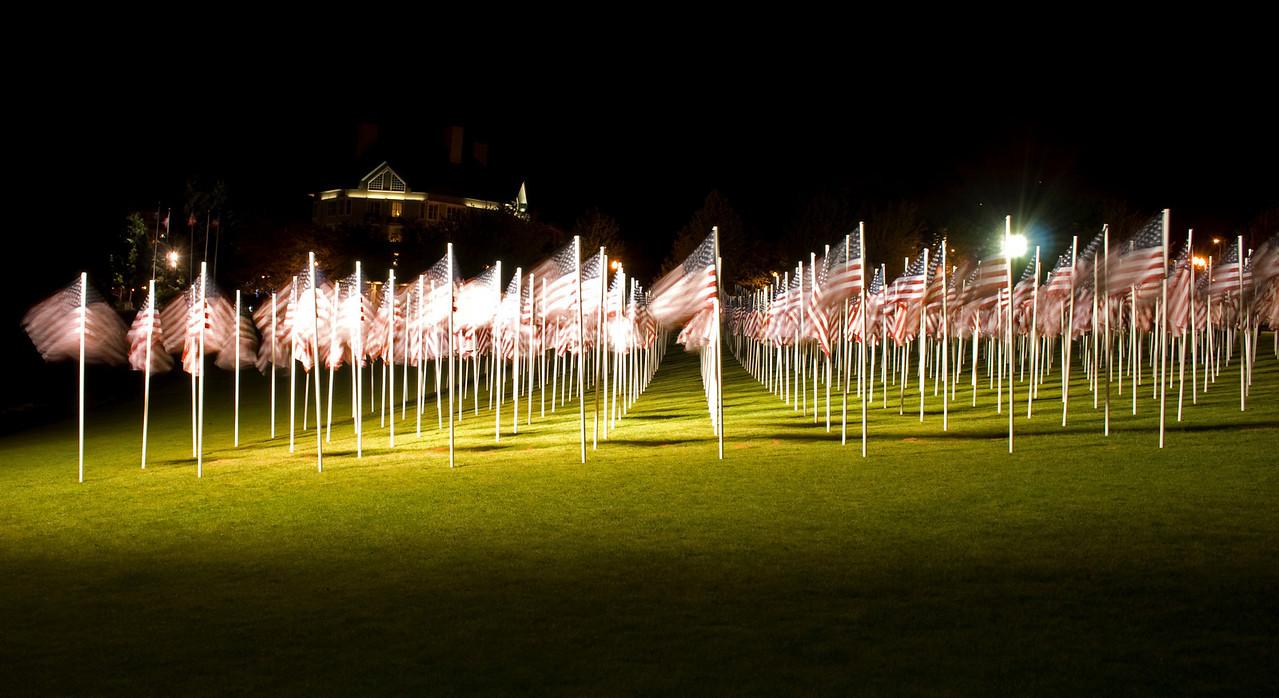 """Field of Honor: 1000 Flags Memorial"" - Memorial Day display, Portland, Or"