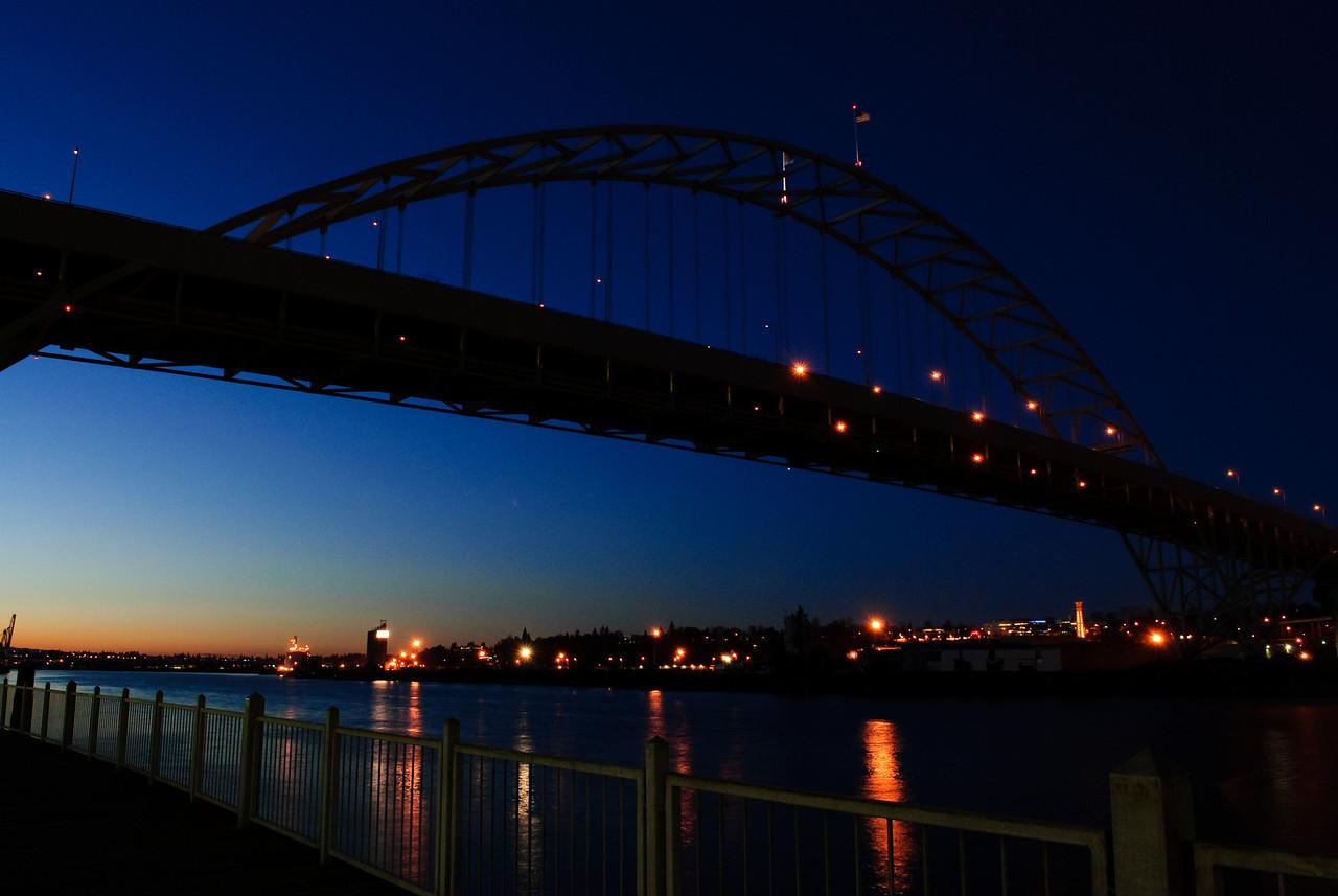 3.08.13  Fremont Bridge at Night Portland, Oregon