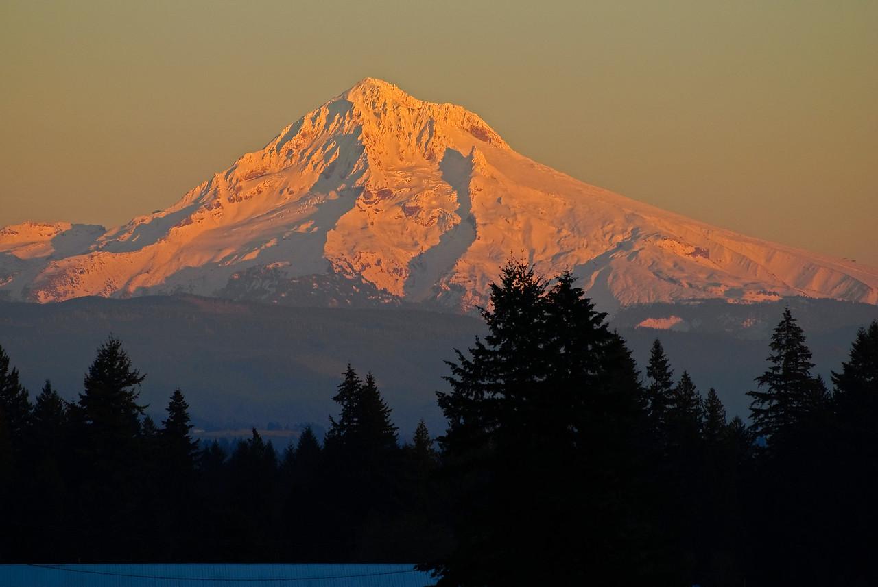 11.24.13  November Sunset, Mt. Hood