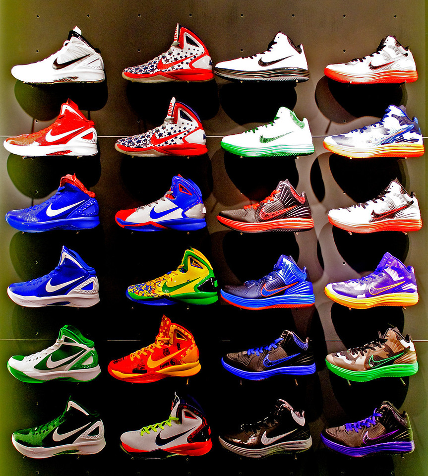 12-10-11 Shoe display at Nike Town This caught my eye and I just happened to have my camera with me.
