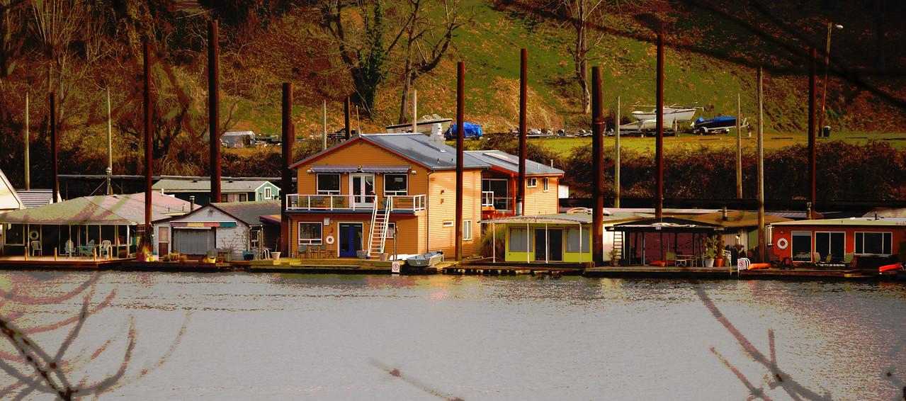 2-22-09  Willamette River Houseboats