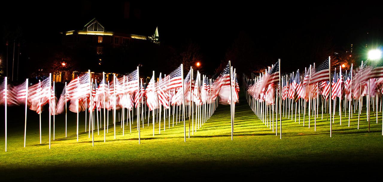 """Happy Memorial Day  """"Field of Honor: 1000 Flags Memorial"""" - Memorial Day display, Portland, Ore."""