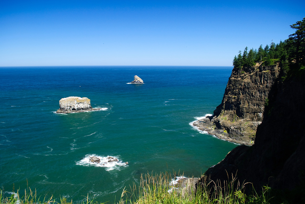 8.04.12  Cliffs and rocks near Cape Meares, Oregon